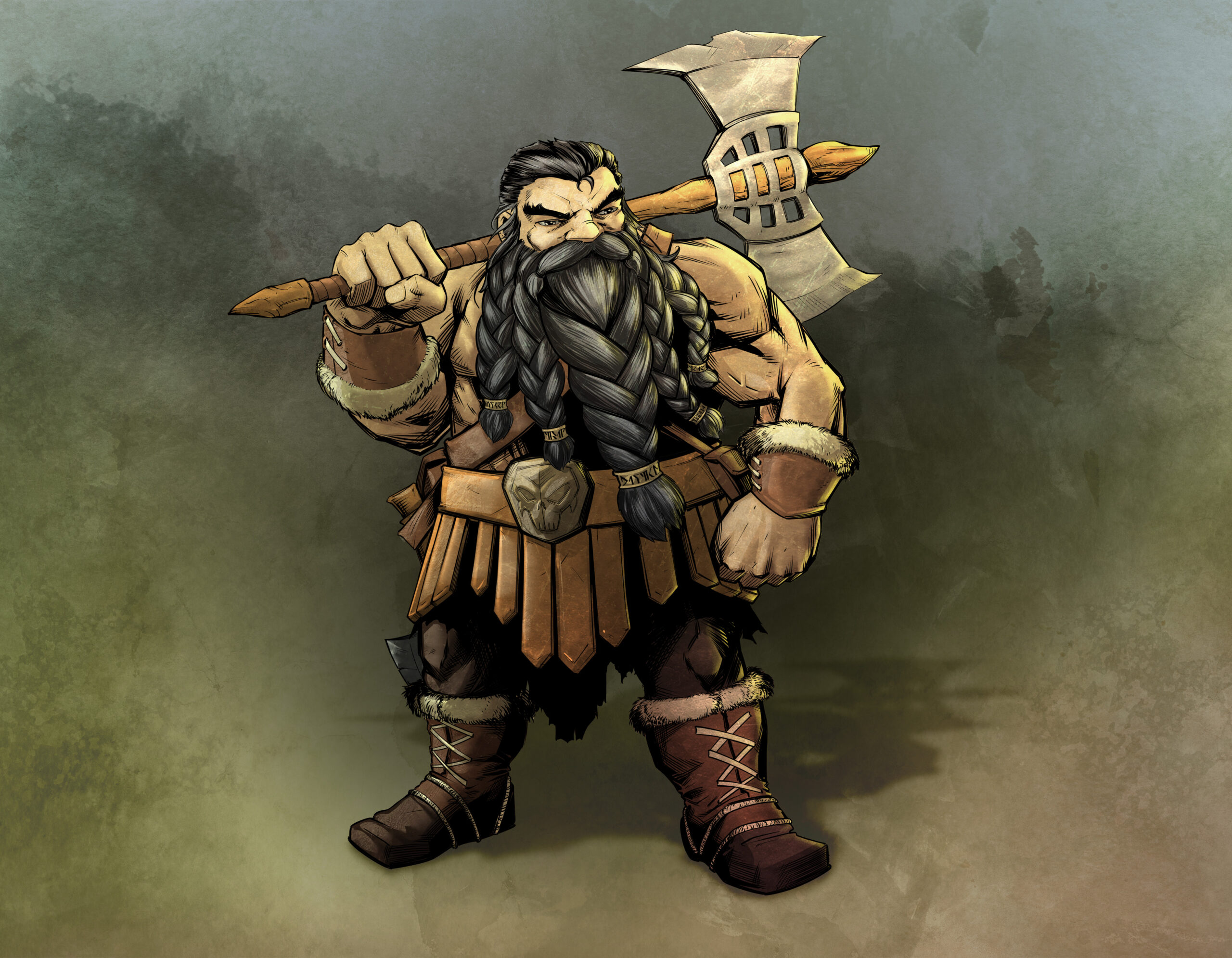 Balgruf the Barbarian Dwarf